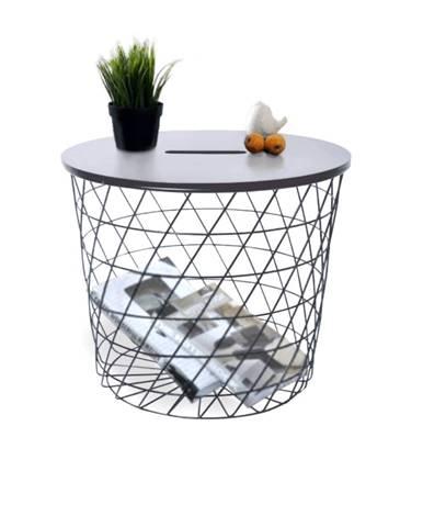 Batis Typ 2 okrúhly príručný stolík grafit