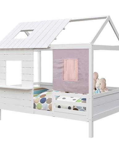 Bibiana jednolôžková posteľ s roštom biela