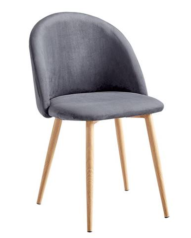 Fluffy jedálenská stolička svetlosivá