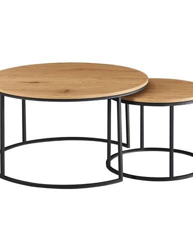 Iklin okrúhly konferenčný stolík (2 ks) dub