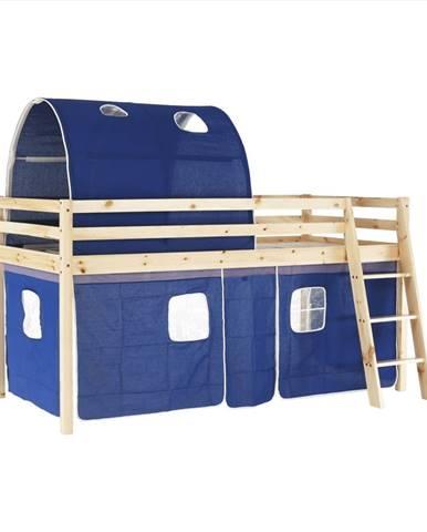 Indigo 90 drevená poschodová posteľ s roštom borovica