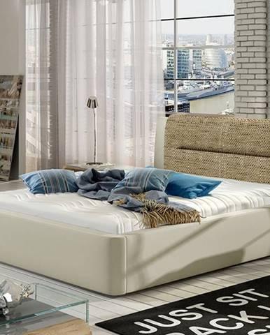 Portima 160 čalúnená manželská posteľ béžová
