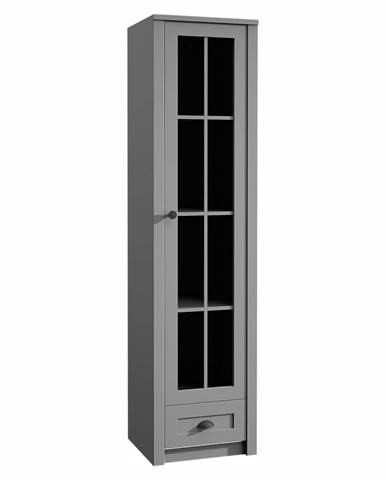 Provance W1S vitrína sivá