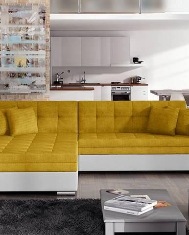 Salerno L rohová sedačka s rozkladom žltá