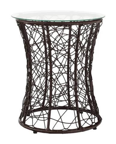Salmar New okrúhly príručný stolík hnedá