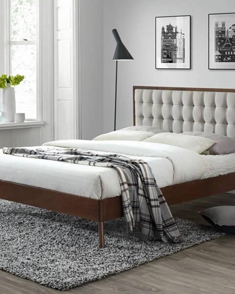 Halmar Solomo 160 manželská posteľ s roštom orech