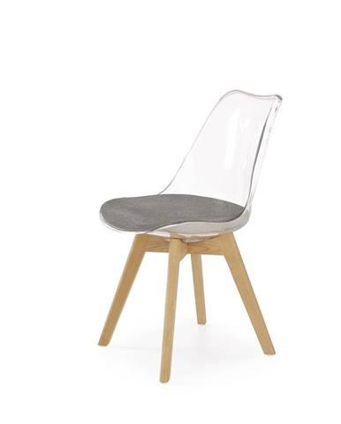 K342 jedálenská stolička priehľadná