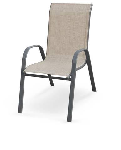 Mosler záhradná stolička sivá