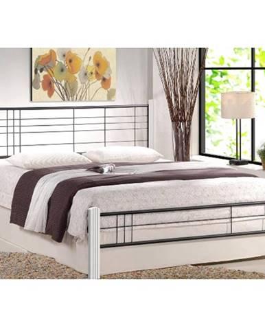 Viera 160 kovová manželská posteľ s roštom biela