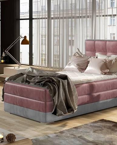 Alessandra 90 P čalúnená jednolôžková posteľ bordová