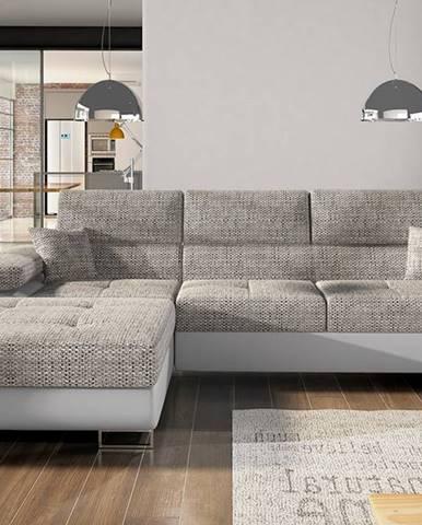 Alkazar L rohová sedačka s rozkladom a úložným priestorom sivá (Berlin 01)