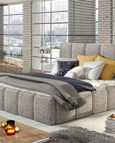 Evora 180 čalúnená manželská posteľ sivá (Berlin 01)