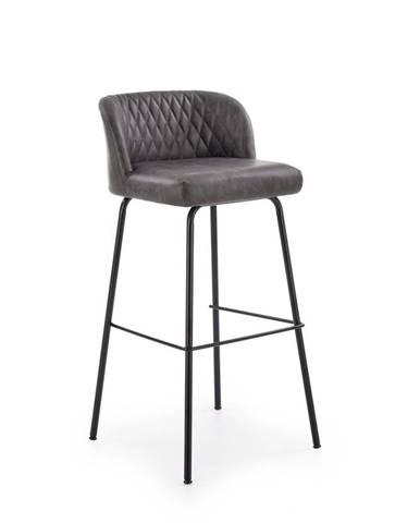 H-92 barová stolička tmavosivá
