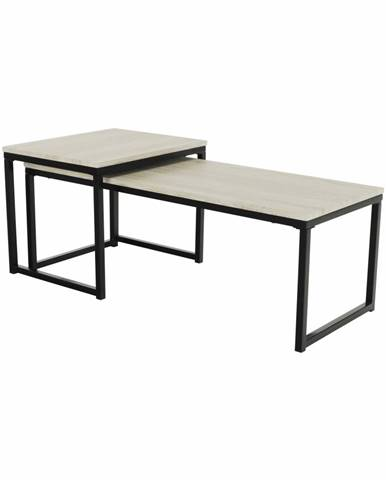 Kastler Typ 2 konferenčný stolík (2 ks) čierna