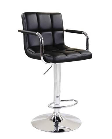 Leora 2 New barová stolička čierna