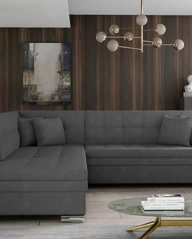 Pescara L rohová sedačka s rozkladom sivá