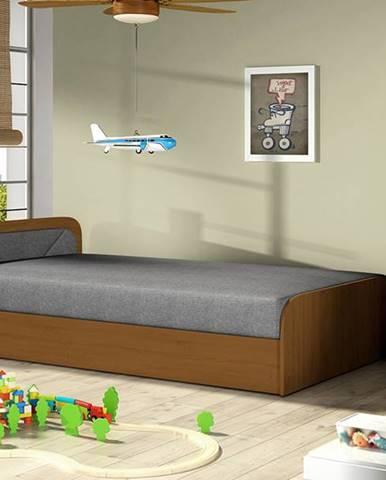 Pinerolo 80 L jednolôžková posteľ (váľanda) s úložným priestorom sivá