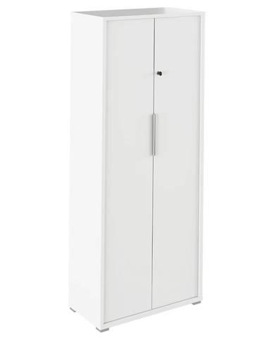 Rioma Typ 31 dvojdverová kancelárska skrinka so zámkom biela