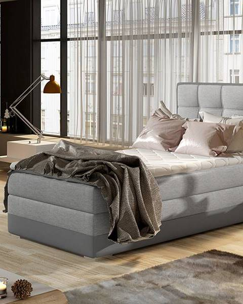 NABBI Alessandra 90 P čalúnená jednolôžková posteľ svetlosivá (Sawana 21)