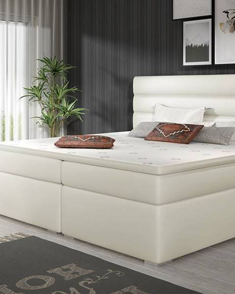 NABBI Spezia 140 čalúnená manželská posteľ s úložným priestorom béžová