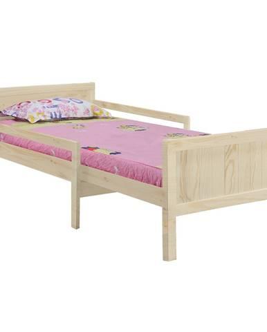 Eunika jednolôžková posteľ s nastaviteľnou dĺžkou prírodná