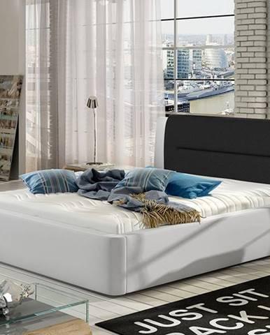 Portima 140 čalúnená manželská posteľ biela (Soft 17)