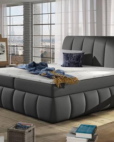 Vareso 140 čalúnená manželská posteľ s úložným priestorom sivá (Soft 29)