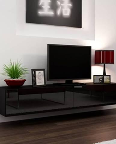 Vigo 180 tv stolík na stenu čierna