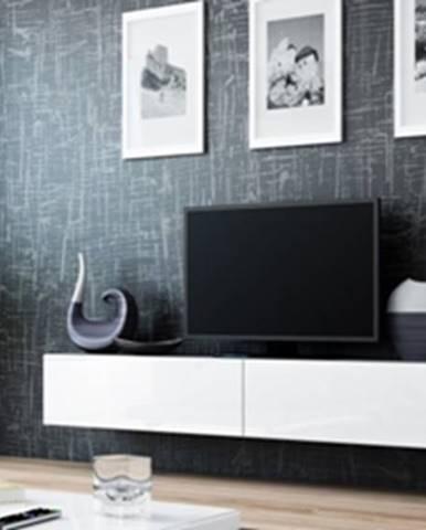 Vigo 180 tv stolík na stenu sivá