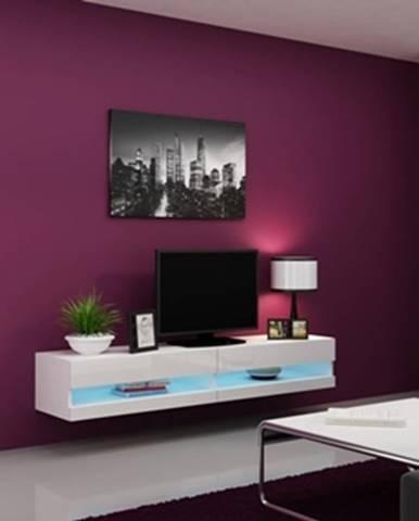 Vigo New 180 tv stolík na stenu biela