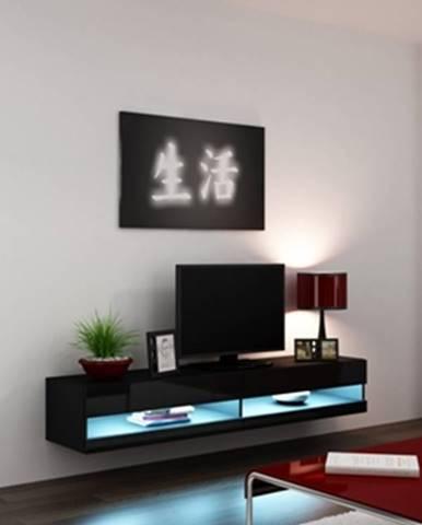 Vigo New 180 tv stolík na stenu čierna