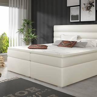 Spezia 140 čalúnená manželská posteľ s úložným priestorom béžová