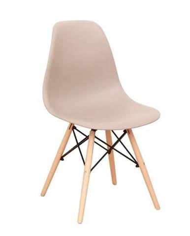 Cinkla 3 New jedálenská stolička teplá sivá