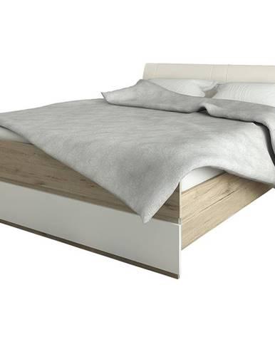Leksand 160-L manželská posteľ s roštom dub wellington