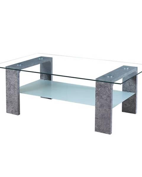 Tempo Kondela Belton sklenený konferenčný stolík betón