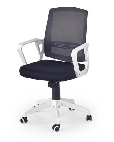 Ascot kancelárska stolička s podrúčkami čierna