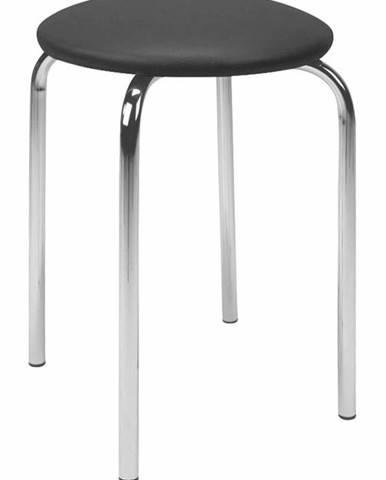 Chico stolička bez operadla čierna (V04)
