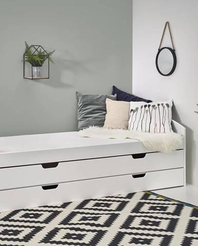 Laguna 2 90 rozkladacia posteľ s prístelkou biely lesk