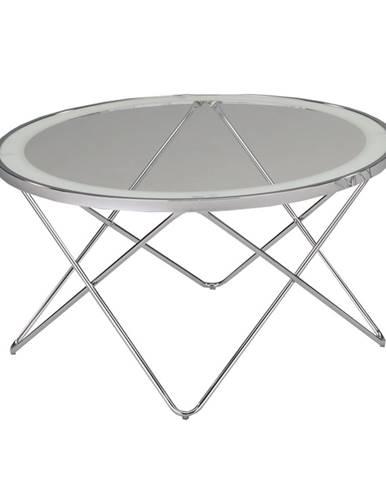 Leonel sklenený konferenčný stolík chrómová