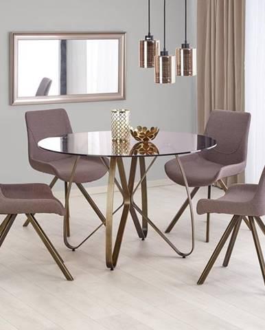 Lungo okrúhly sklenený jedálenský stôl hnedá