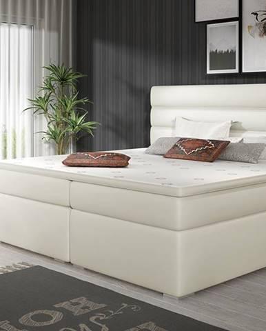 Spezia 160 čalúnená manželská posteľ s úložným priestorom béžová