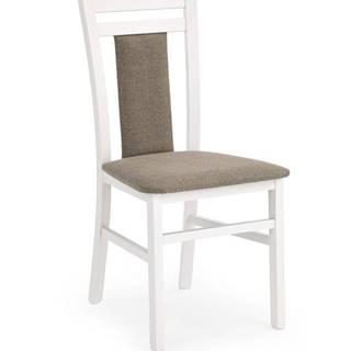Hubert 8 jedálenská stolička biela