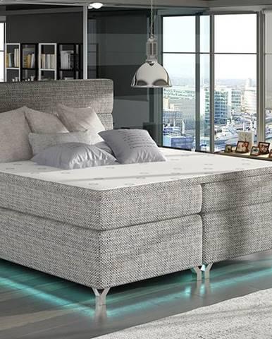 Avellino 160 čalúnená manželská posteľ s úložným priestorom sivá (Berlin 01)