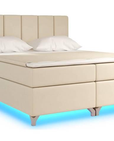 Barino 160 čalúnená manželská posteľ s úložným priestorom béžová (Soft 33)