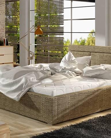 Branco UP 200 čalúnená manželská posteľ s roštom cappuccino