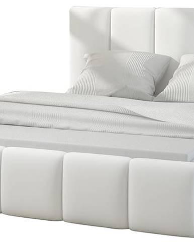 Evora 160 čalúnená manželská posteľ biela