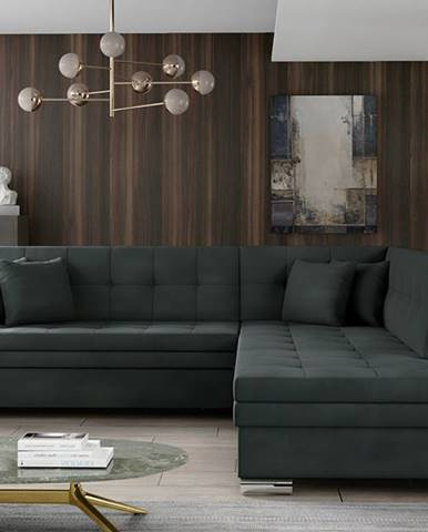 Pescara P rohová sedačka s rozkladom čierna (Monolith 97)