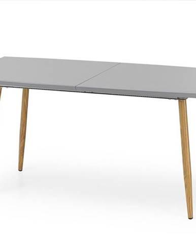 Ruten rozkladací jedálenský stôl sivý lesk