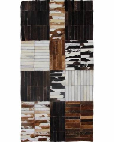 Typ 4 kožený koberec 201x300 cm vzor patchwork