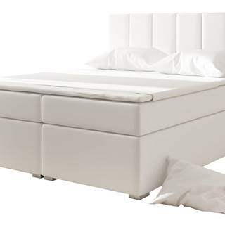 Barmo 180 čalúnená manželská posteľ s úložným priestorom biela